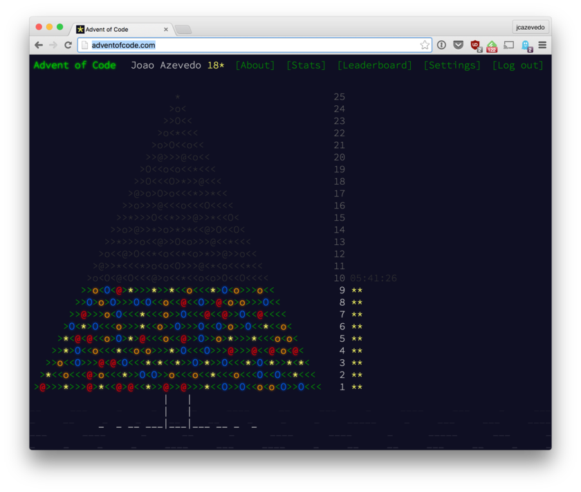 Advent of Code tree